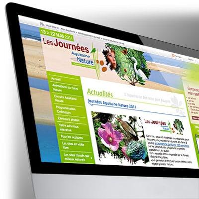 Design du site Internet Aquitaine Nature
