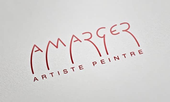 Logotype pour l'artiste peintre Serge Amarger