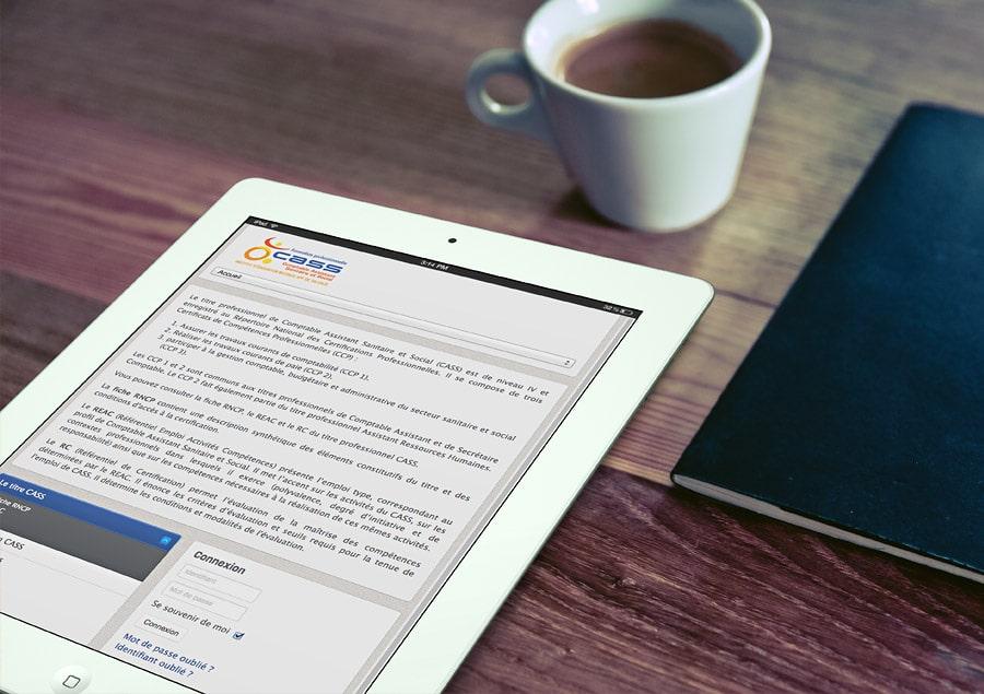 Site Internet pour la formation CASS de l'IEM de Talence