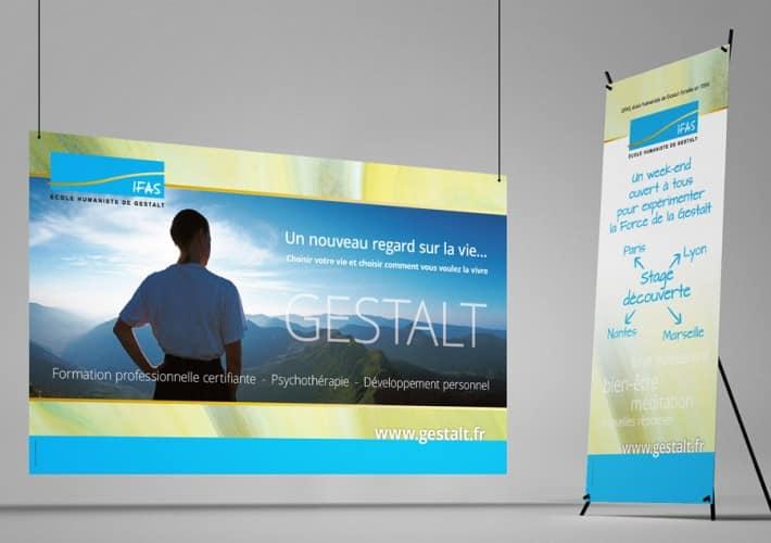 Les éléments pour le stand de l'IFAS Gestalt
