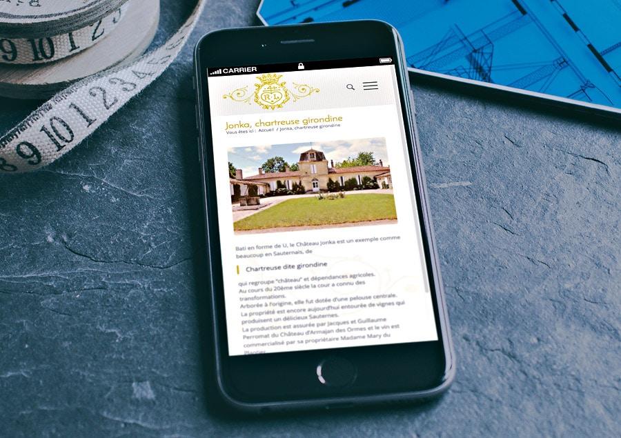 Site Internet WordPress du vin Château Jonka - Sauternes