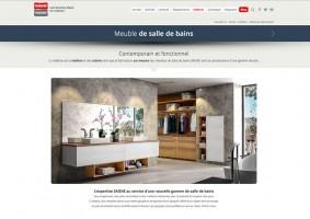 Page des meubles de salles de bains