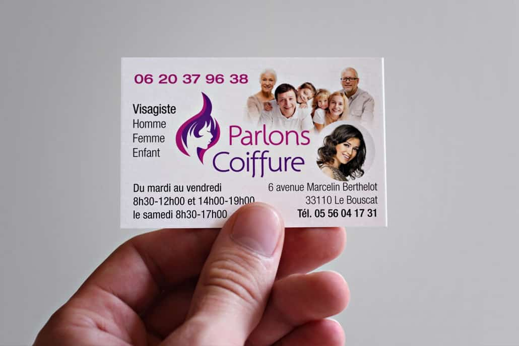 Logotype Parlons Coiffure Carte De Visite