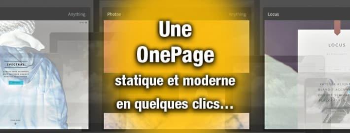OnePage statique avec BootStrap