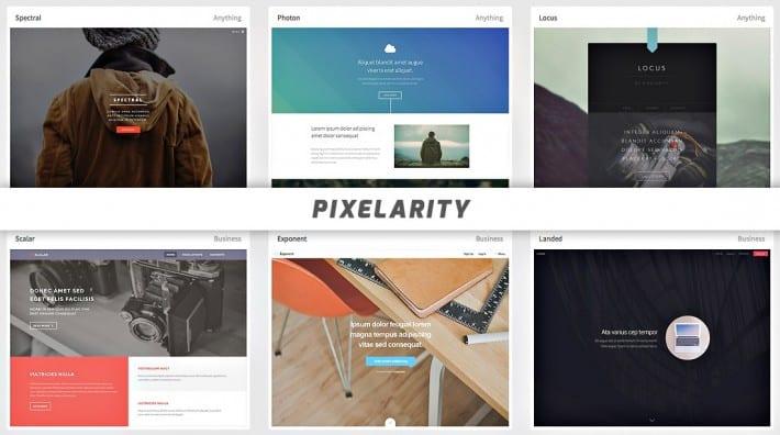 Les thèmes chez Pixelarity
