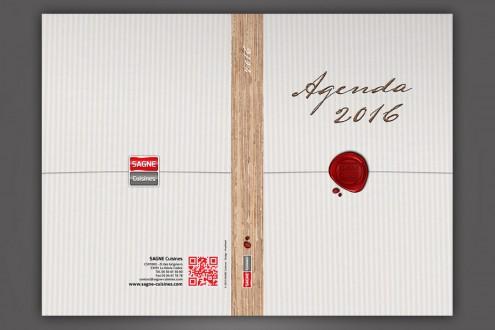 Couverture de l'agenda 2016 SAGNE Cuisines