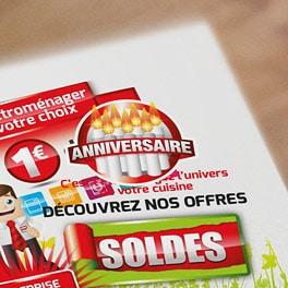Logos et visuels promos pour SAGNE Cuisines en 2014