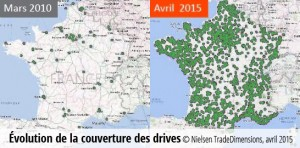Couverture des Drives en France en 2015