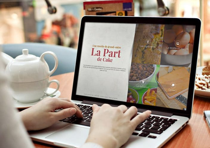 Site One Page Bootstrap La Part de Cake