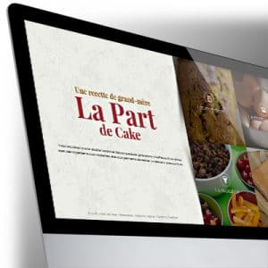 Site One Page Bootstrap La Part de Cake