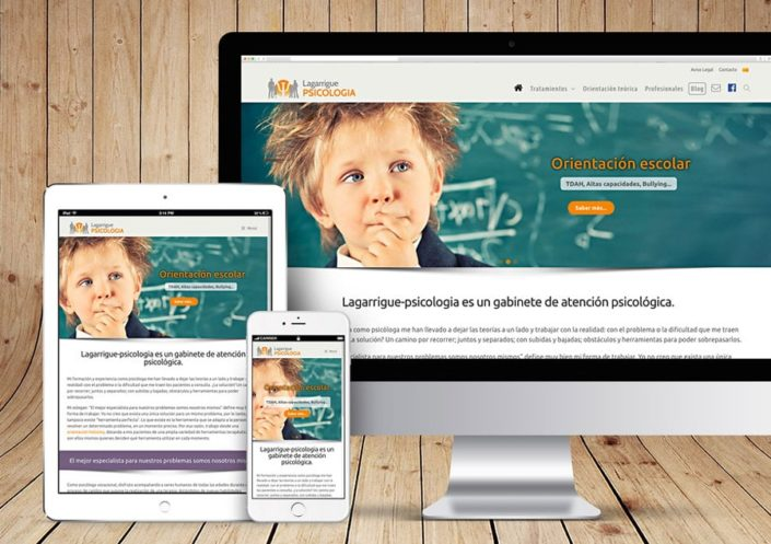 Site Internet WordPress Lagarrigue Psicologia