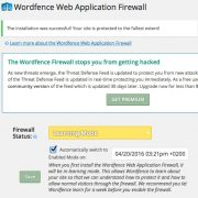 Mode d'apprentissage du WAF avec Wordfence