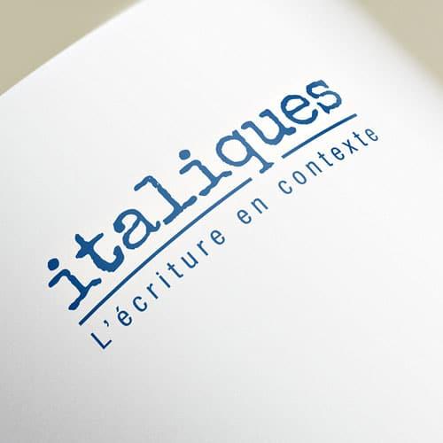 logotype Italiques pour Valérie Chelle
