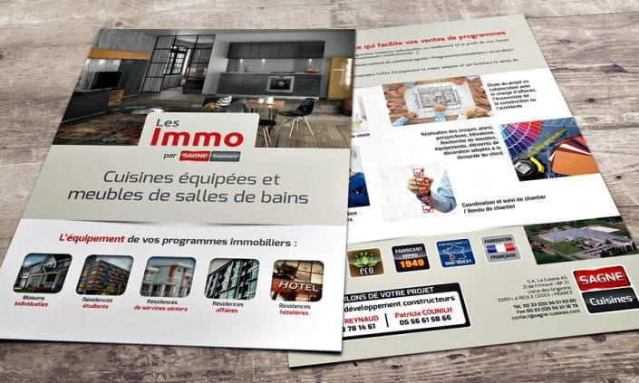 """Flyer A4 """"Les Immo"""" par SAGNE Cuisines"""