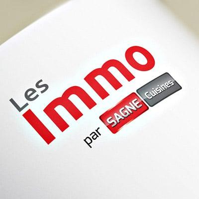 """Logotype """"Les Immo"""" par SAGNE Cuisines"""