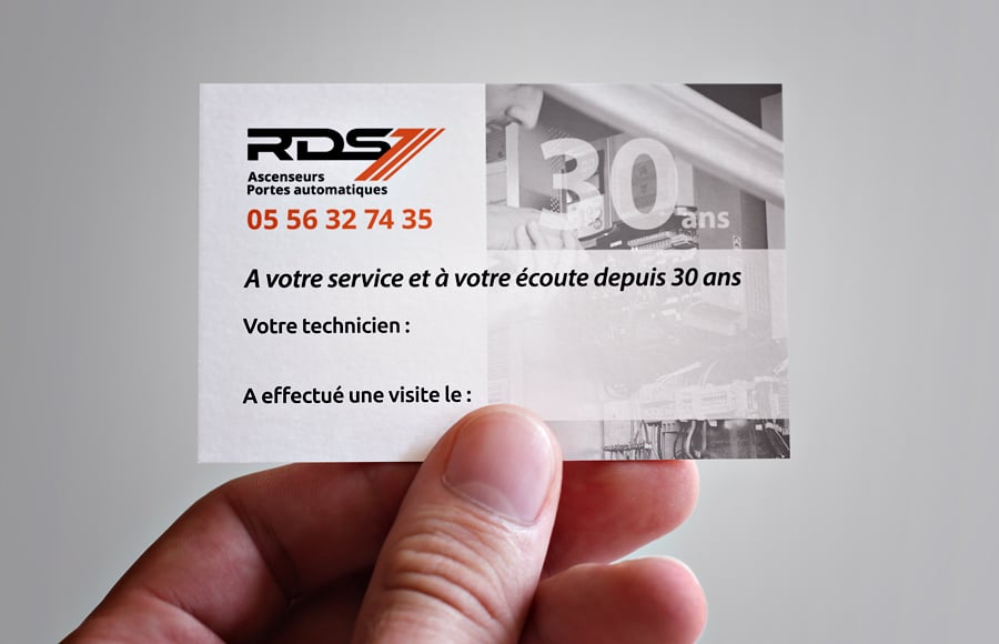 Carte de maintenance RDS Ascenseurs