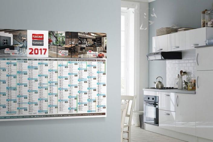 Calendrier 2017 SAGNE Cuisines