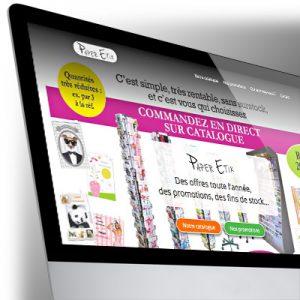 Site Bootstrap PaperEtik - Carterie