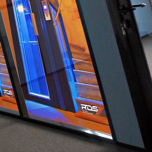 RDS Ascenseurs - Habillage film micro-perforé