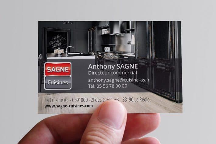 Carte de visite SAGNE Cuisines 2017