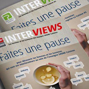 Journaux interviews SAGNE et PRONTO Cuisines