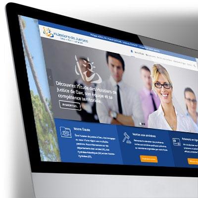 Site WordPress - Huissiers de Justice Dax