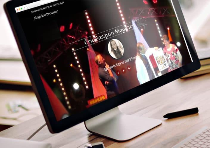Site WordPress Magicien Bretagne - Éric Basquin