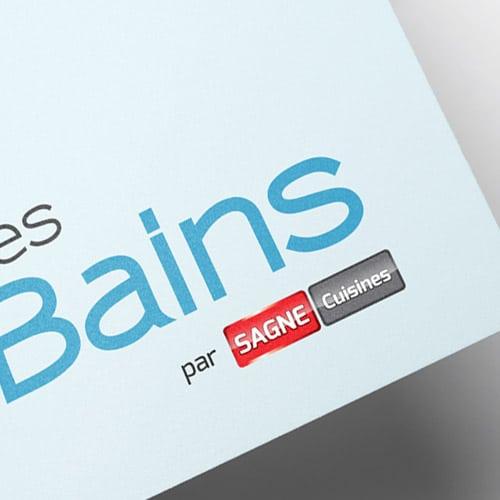 Logotype Les Bains pour SAGNE Cuisines