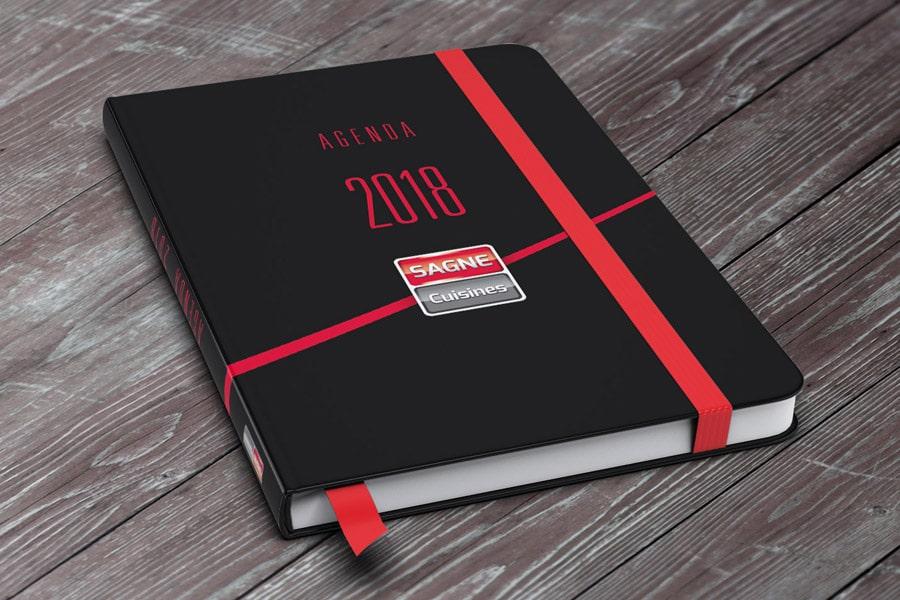 Couverture agenda 2018 SAGNE Cuisines
