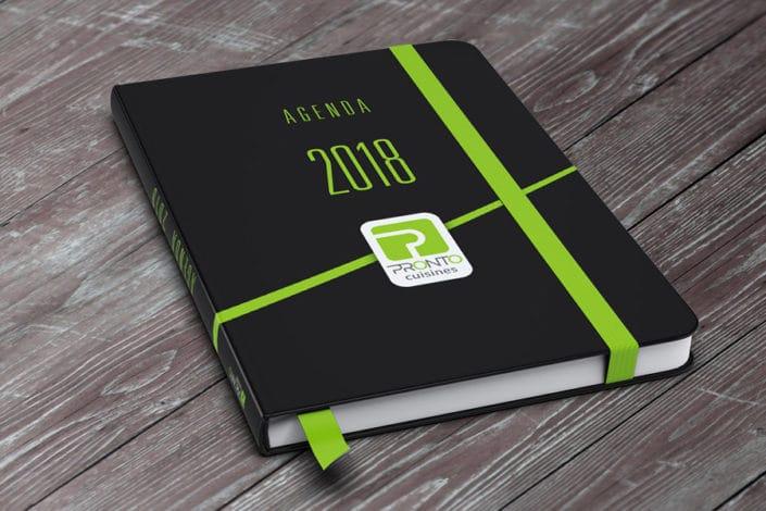 Couverture agenda 2018 PRONTO Cuisines