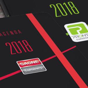 Couvertures agenda 2018 SAGNE et PRONTO Cuisines