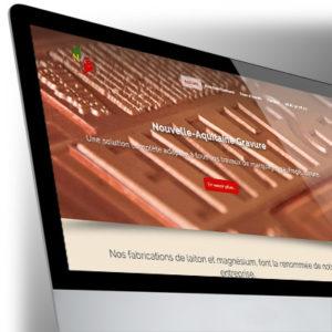 Site Internet BootStrap pour la Nouvelle-Aquitaine Gravure