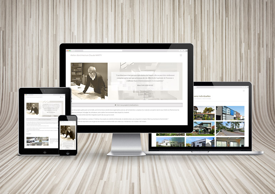 Site WordPress de l'Atelier d'architecture Claude MARTY