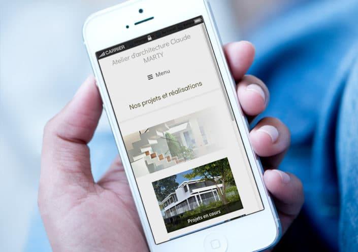 Site WordPress de l'Atelier d'architecture Claude MARTY