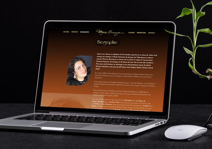 Site WordPress de Florence Recanzone