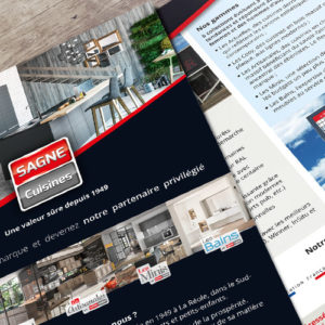 Flyer quadri A4 - Prospection SAGNE Cuisines