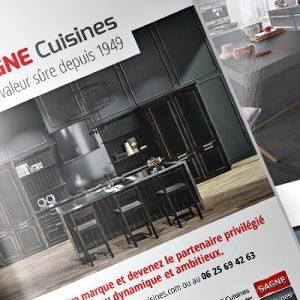 Annonce presse l'Officiel des cuisinistes pour SAGNE Cuisines