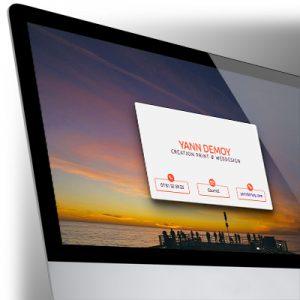 Carte de visite Web pour Yann Demoy