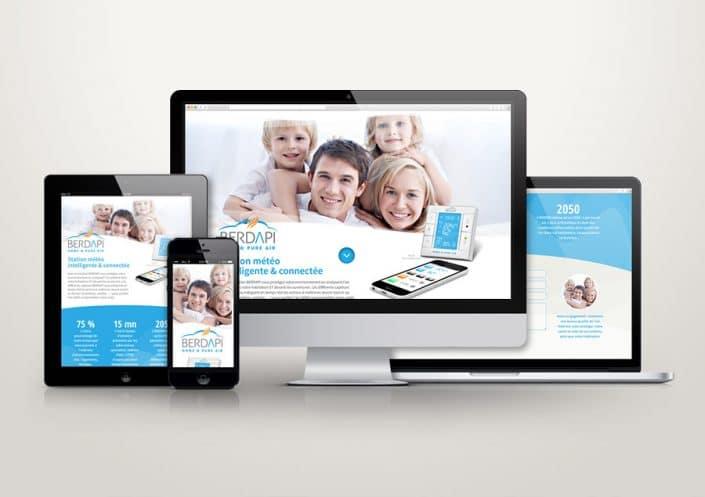 Site WordPress Berdapi - Landing page