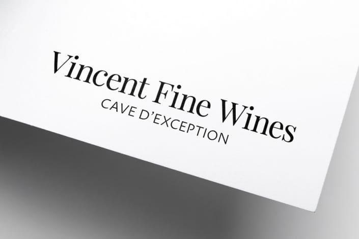 Rebranding pour Vincent Fine Wines