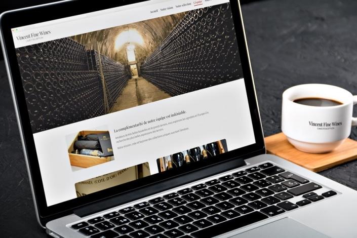 Nouveau site WordPress pour Vincent Fine Wines