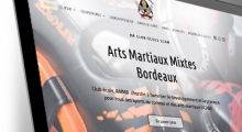 Site WordPress pour l'association sportive Arts Martiaux Mixtes Bordeaux