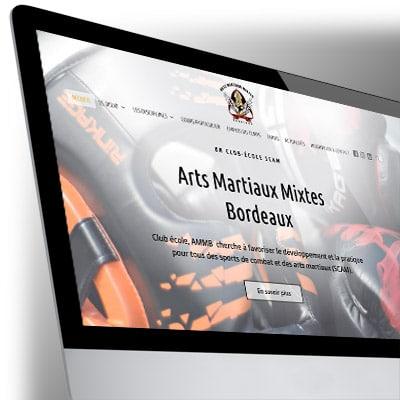 Site WordPress pour l'association sportive Arts Martiaux Mixtes Bordeaux