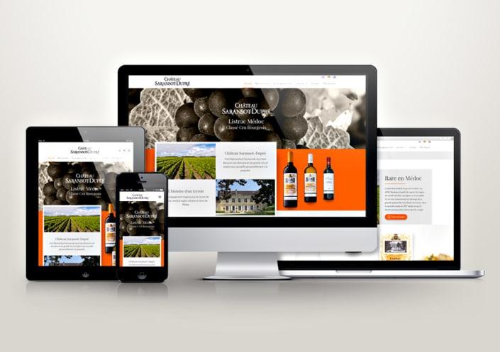 Site WordPress Château Saransot-Dupré