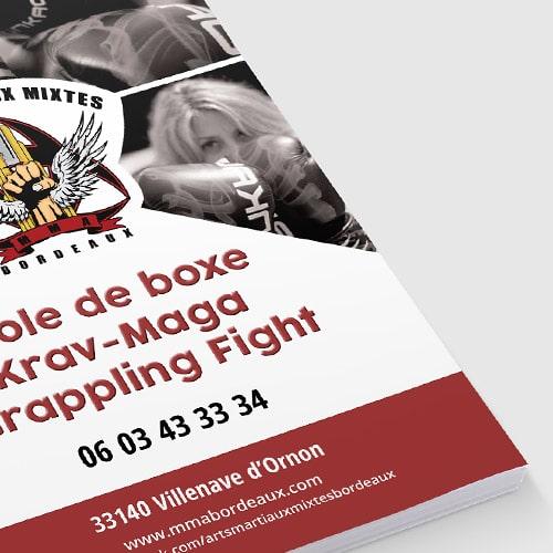 Bâche 2m x 1m, affiche et flyer pour AMM Bordeaux