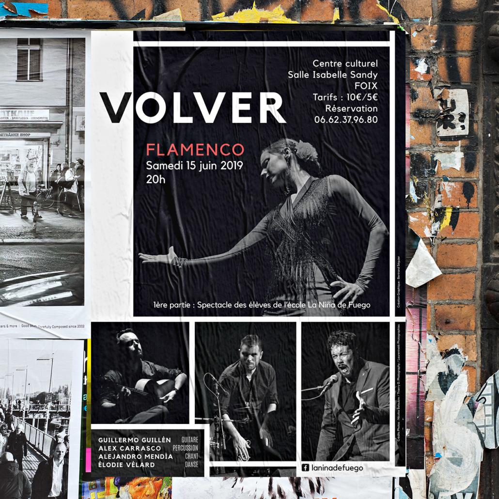 Affiche A2 pour Flamenco en Ariège