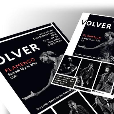 Affiche et flyer pour Flamenco en Ariège
