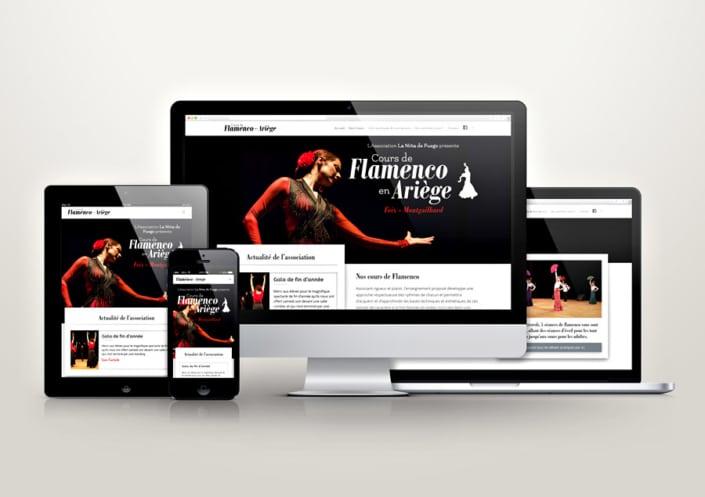 Site WordPress pour L'Association La Niña de Fuego - Cours de Flamenco en Ariège