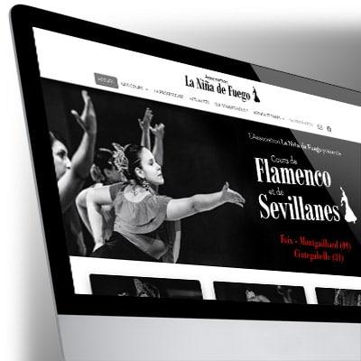 Site WordPress pour La Niña de Fuego