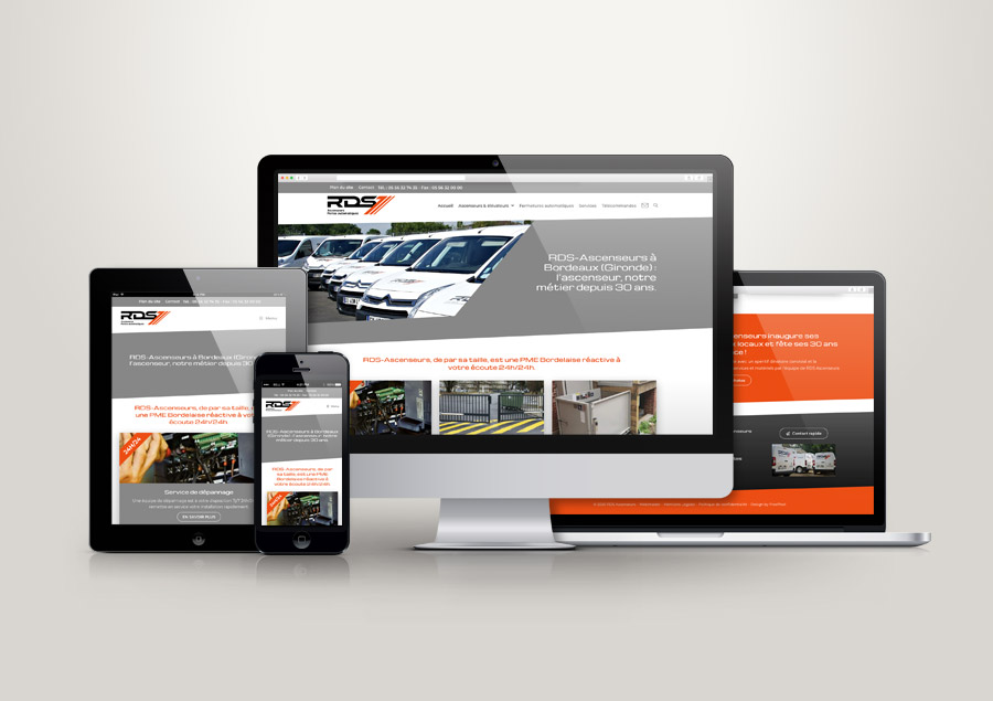 Site Internet WordPress - RDS Ascenseurs